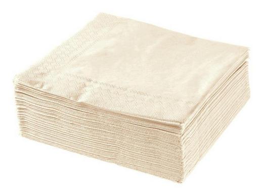 SERVETT - creme, Basics, papper (40/40cm) - XXXLPACK