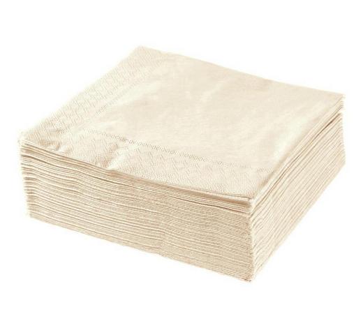 UBROUSEK, 40/40 cm, krémová - krémová, Basics, papír (40/40cm) - Xxxlpack