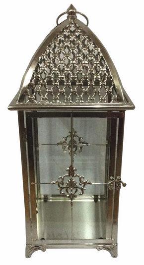 LYKTA - klar/silver, Lifestyle, metall/glas (20/48/20cm) - Ambia Home
