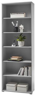 PISARNIŠKI REGAL  svetlo siva - srebrna/svetlo siva, Design, leseni material (79/220/35cm) - Xora