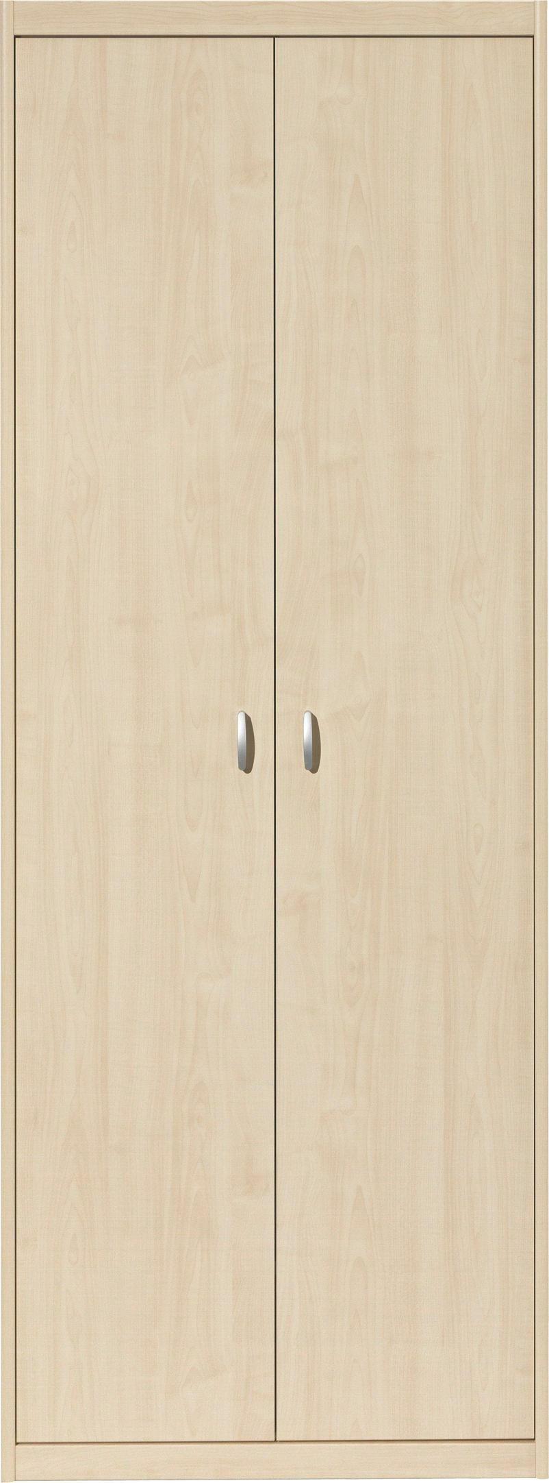KLEIDERSCHRANK in Ahornfarben - Silberfarben/Ahornfarben, KONVENTIONELL, Holzwerkstoff/Kunststoff (72/194/54cm) - CS SCHMAL