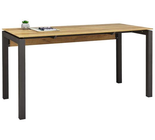 SCHREIBTISCH in Metall, Holzwerkstoff 140/75/65 cm  - Eichefarben/Anthrazit, KONVENTIONELL, Holzwerkstoff/Metall (140/75/65cm)