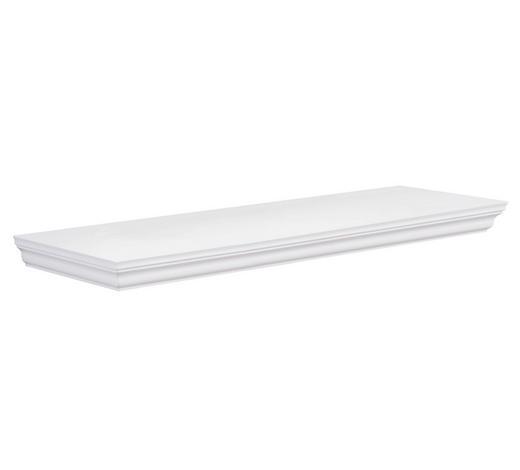 POLICE NÁSTĚNNÁ, bílá - bílá, Basics, kompozitní dřevo (60/3,8/19,5cm) - Carryhome