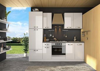 KUHINJSKI BLOK - bela, Moderno, leseni material (240cm) - Boxxx