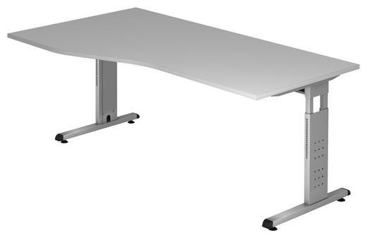 SCHREIBTISCH Grau - Silberfarben/Grau, KONVENTIONELL, Metall (180/65-85/100cm)