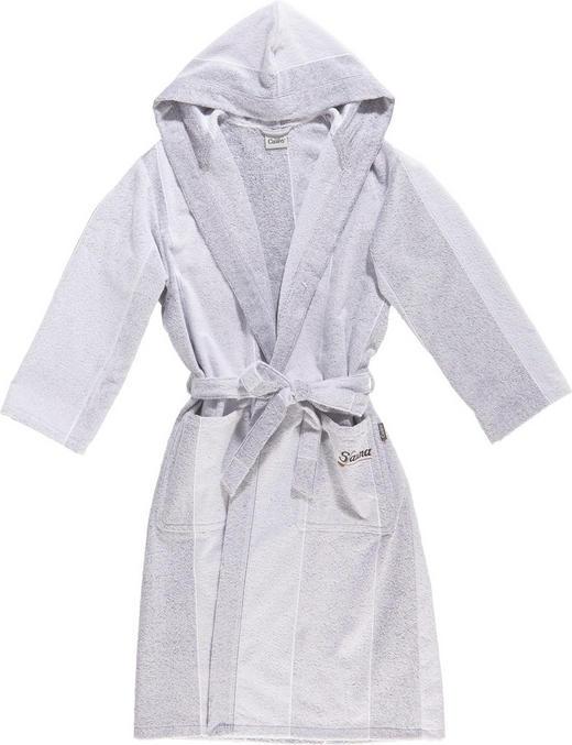 BADEMANTEL  Grau, Silberfarben - Silberfarben/Grau, Textil (L) - CAWOE