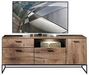 SIDEBOARD - Eichefarben/Anthrazit, MODERN, Glas/Holzwerkstoff (175/75/48cm) - Hom`in
