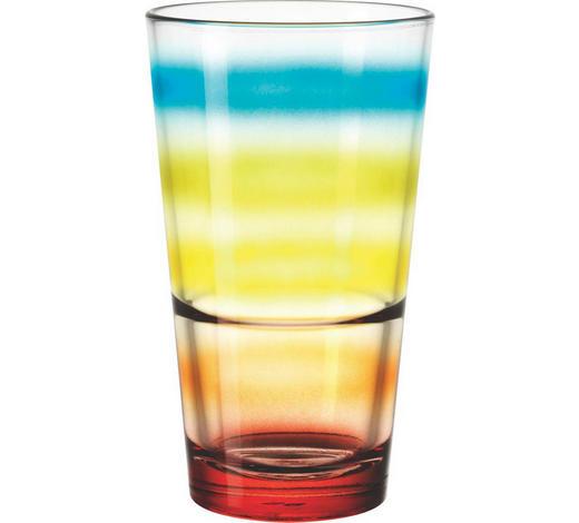 TRINKGLAS 330 ml - Blau/Gelb, Basics, Glas (0.33l) - Leonardo