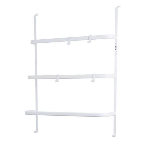 TÜRGARDEROBE Metall - Weiß, Basics, Metall (18/64,5/86,5cm)