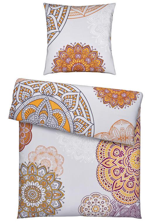 BETTWÄSCHE Satin Orange, Silberfarben 135/200 cm - Silberfarben/Orange, Textil (135/200cm) - Esposa