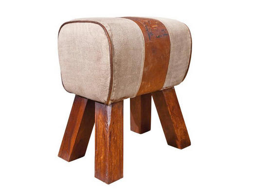 HOCKERBANK Braun - Braun, LIFESTYLE, Holz/Textil (43/47,5/30cm) - Carryhome