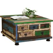 KONFERENČNÍ STOLEK, mangové dřevo, vícebarevná - vícebarevná/hnědá, Design, dřevo/kompozitní dřevo (88/88/47cm) - Carryhome