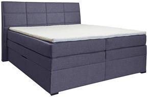 KONTINENTALSÄNG - ljusgrå/wengefärgad, Klassisk, trä/träbaserade material (160/200cm) - Carryhome