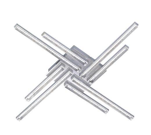 LED-DECKENLEUCHTE - Chromfarben, Design, Metall (76/8,5/76cm)