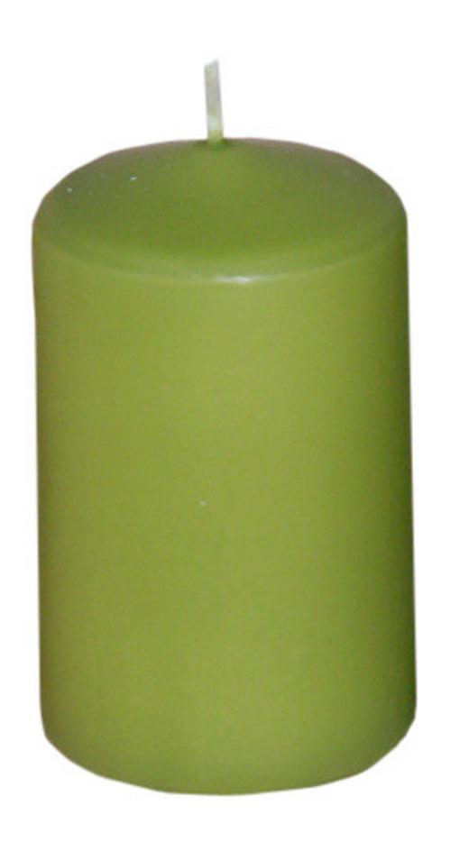 STUMPENKERZE 4,7/8,0 cm - Hellgrün, Basics (4,7/8,0cm) - Steinhart