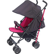 BUGGY Nizza - Pink/Schwarz, KONVENTIONELL, Textil/Metall (108/81/47cm) - My Baby Lou