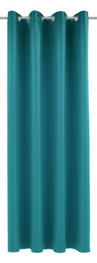 ZAVJESA S RINGOVIMA - tirkizna, Konvencionalno, tekstil (140/245cm) - ESPOSA