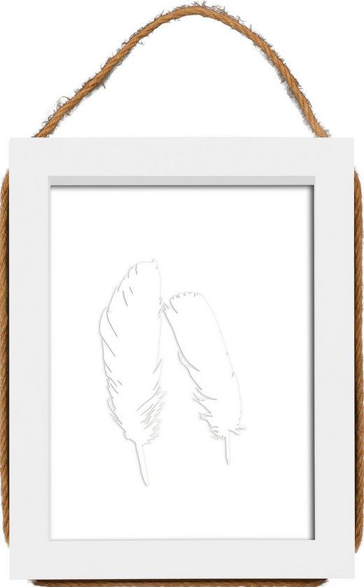 WECHSELRAHMEN  Weiß - Weiß, Basics, Glas/Holz (18/23/2cm)