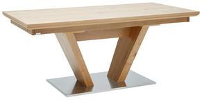 ESSTISCH Eiche furniert rechteckig Edelstahlfarben, Eichefarben - Edelstahlfarben/Eichefarben, Design, Holz/Metall (180/90/76cm) - DIETER KNOLL