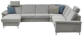 WOHNLANDSCHAFT in Textil Silberfarben  - Silberfarben/Alufarben, Design, Textil/Metall (170/333/265cm) - Dieter Knoll
