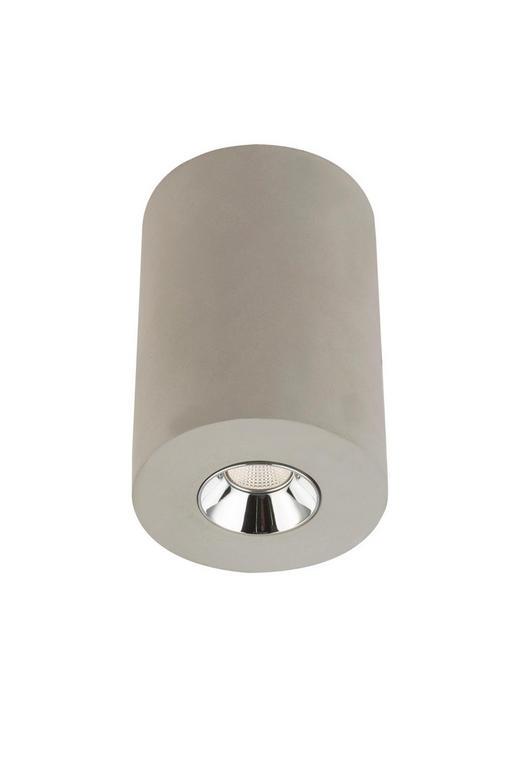 LED-DECKENLEUCHTE - Grau, KONVENTIONELL, Stein/Metall (7,5/11cm)
