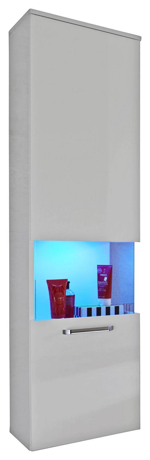 HÄNGESCHRANK Weiß - Silberfarben/Weiß, KONVENTIONELL, Glas/Holzwerkstoff (40/165/34cm) - Xora