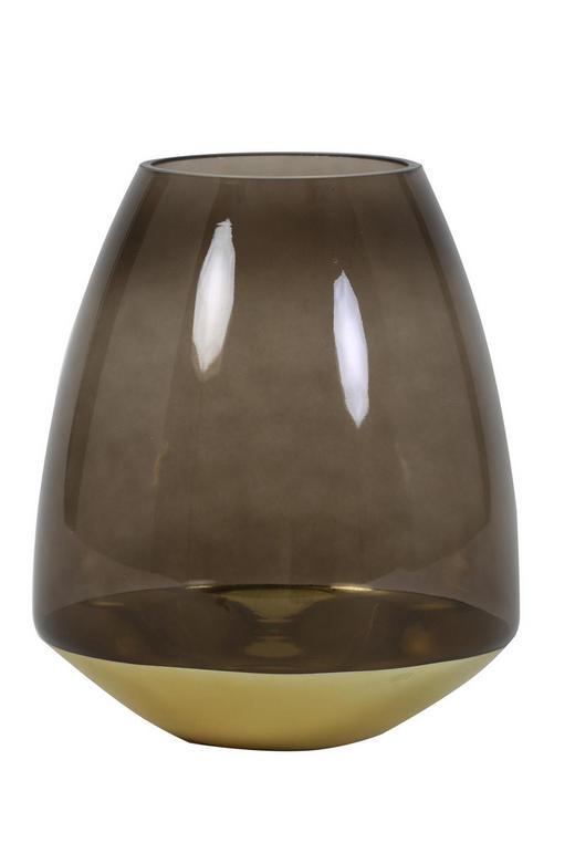 WINDLICHT - Braun, Trend, Glas (22/25cm)