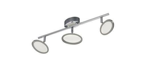 LED-DECKENLEUCHTE - Chromfarben/Weiß, MODERN, Kunststoff/Metall (52,5/15/13,5cm)