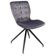 STUHL Samt Grau, Schwarz  - Schwarz/Grau, LIFESTYLE, Textil/Metall (47/84,5/56,2cm) - Kare-Design