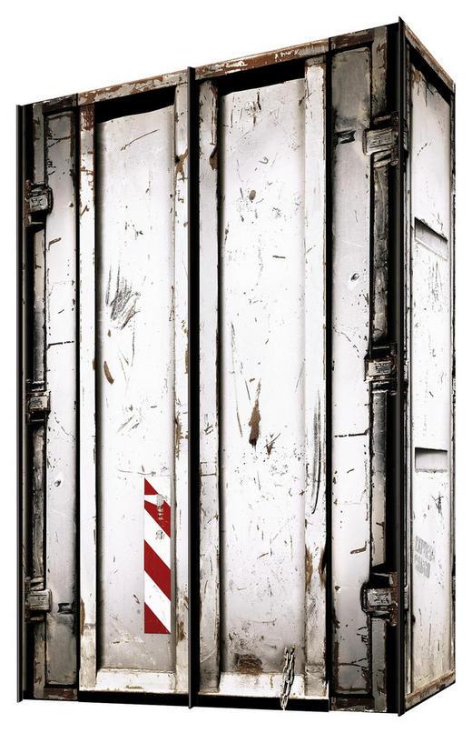 SCHWEBETÜRENSCHRANK 2-türig Weiß - Graphitfarben/Weiß, Trend, Holzwerkstoff/Metall (150/216/68cm) - Carryhome