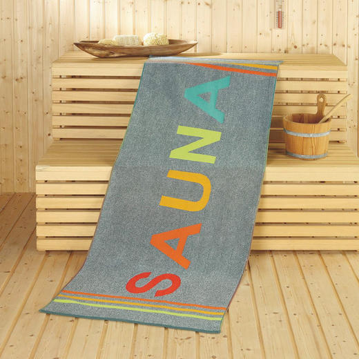 SAUNATUCH 70/180 cm - Taupe, Textil (70/180cm)