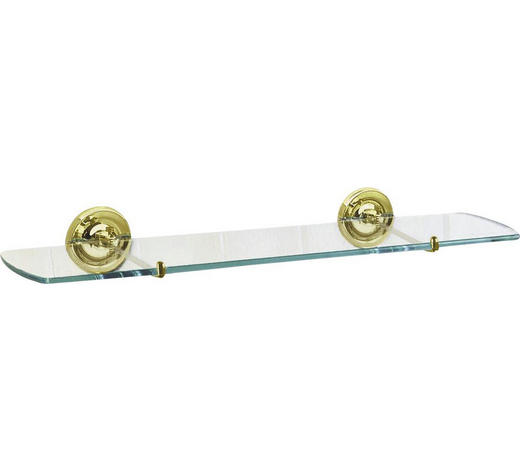BADEZIMMERKONSOLE - Goldfarben, Basics, Glas/Metall (60cm)
