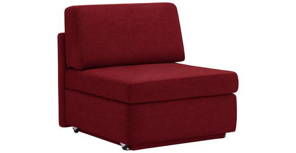 SCHLAFSESSEL in Textil Rot - Rot, KONVENTIONELL, Textil (91/88/94cm) - Venda