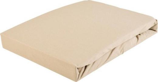 TOPPER SPANNBETTTUCH Jersey Taupe bügelfrei - Taupe, Basics, Textil (100/220cm) - Novel