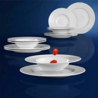 Porzellan  TAFELSERVICE  12-teilig  - Weiß, Basics, Keramik - Seltmann Weiden