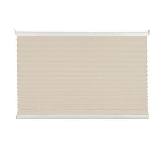 PLISSEE  halbtransparent  80/130 cm    - Sandfarben, Basics, Textil (80/130cm)