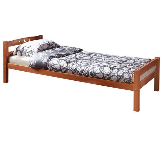 BETT Buche massiv 90/200 cm  - Buchefarben, Basics, Holz (90/200cm) - Carryhome