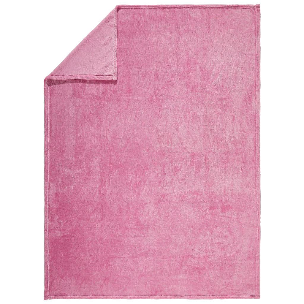 Novel Wohndecke 220/240 cm rosa