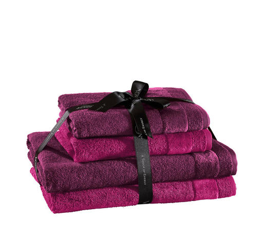 FROTTIERSET 4-teilig - Pink/Lila, Design, Textil - Vossen