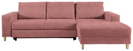 WOHNLANDSCHAFT in Textil Rosa - Buchefarben/Rosa, Design, Holz/Textil (260/160cm) - Ti`me