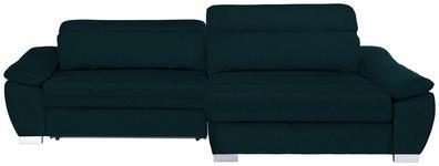 WOHNLANDSCHAFT in Textil Petrol  - Silberfarben/Petrol, MODERN, Kunststoff/Textil (270/175cm) - Carryhome