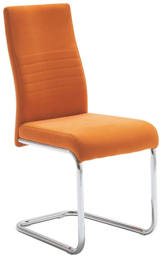 HOUPACÍ ŽIDLE, textilie, oranžová, - oranžová, Design, kov/textilie (43/96/59cm) - Carryhome