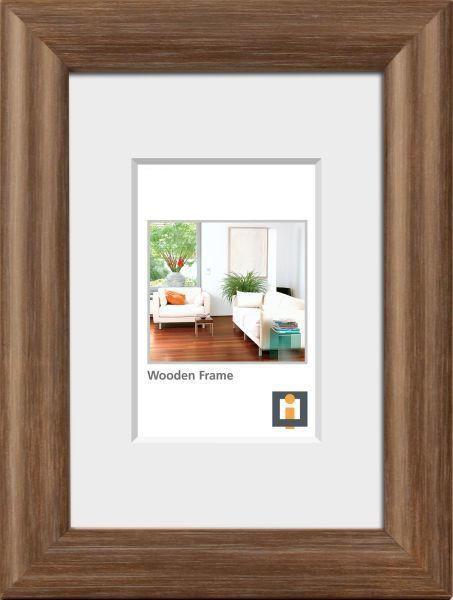 BILDERRAHMEN  Eichefarben - Eichefarben, Basics, Glas/Holz (21/30cm)