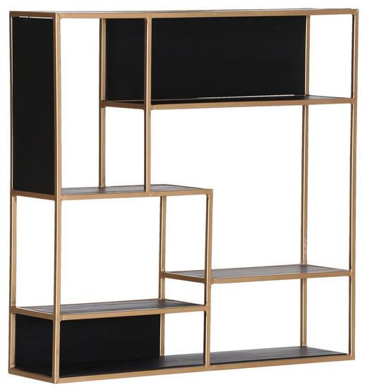 WANDREGAL - Goldfarben/Schwarz, Trend, Holz/Metall (100/100/25cm) - Carryhome
