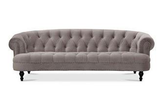 SOFFA - svart/grå, Klassisk, metall/trä (231/75/96cm)