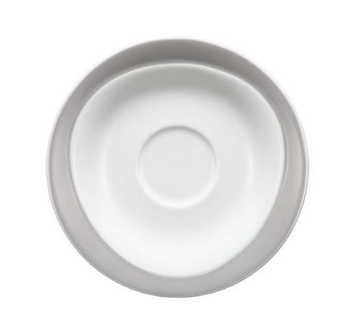UNTERTASSE - Weiß/Grau, Basics (16cm) - SELTMANN WEIDEN
