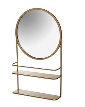 VÄGGSPEGEL - guldfärgad, Design, metall/glas (46/78/12cm)