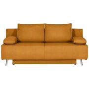 SCHLAFSOFA in Orange Textil - Chromfarben/Orange, Design, Textil/Metall (196/90/92cm) - XORA