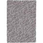 HOCHFLORTEPPICH  65/130 cm  gewebt  Silberfarben   - Silberfarben, Basics, Textil (65/130cm) - Novel