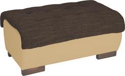 HOCKER in Textil Naturfarben, Dunkelbraun  - Wengefarben/Dunkelbraun, Design, Holz/Textil (98/43/66cm) - Carryhome
